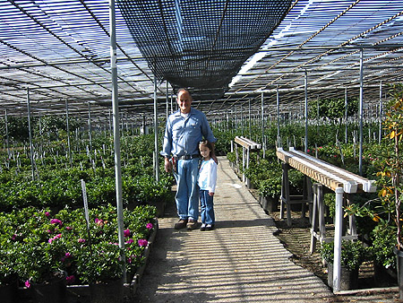 Tom Nuccio and Elizabeth Panchul. Nuccio's Nurseries, Altadena, California, December 13, 2003.